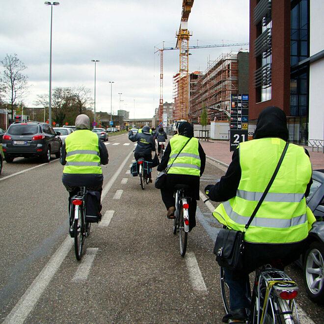 fietsen op straat